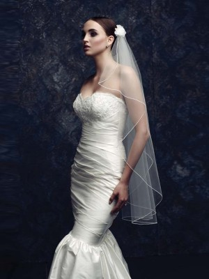 Stunning Tulle With Flower Wedding Veils