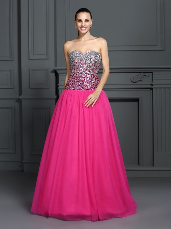Ball Gown Sweetheart Sleeveless Organza Floor-Length Quinceanera Dresses