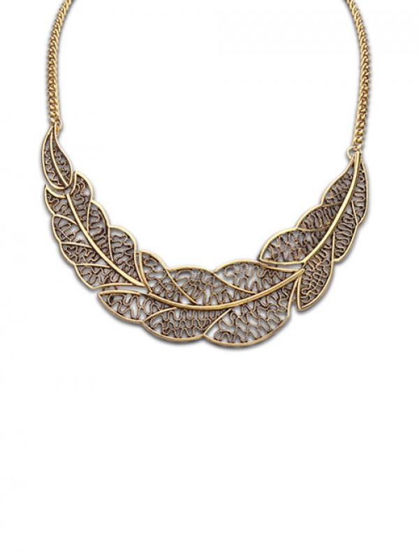 Occident Foreign Orders Simple Hollow Tree Leaf Hot Sale Necklace