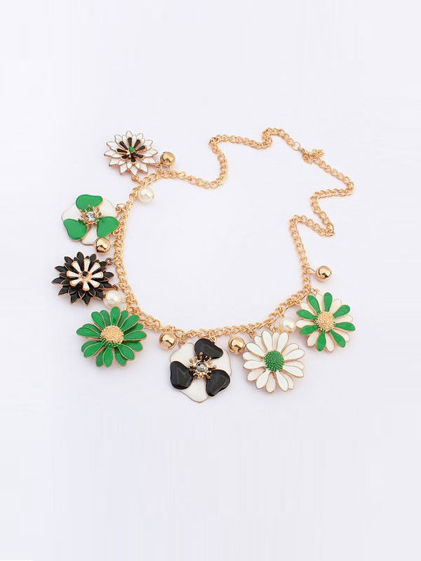 Occident Celebutante Luxurious Flowers Daisy Hot Sale Necklace