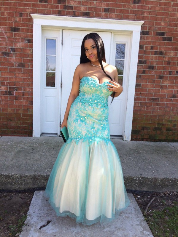 Mermaid Sweetheart Sleeveless Floor-Length Tulle Plus Size Dresses With Applique