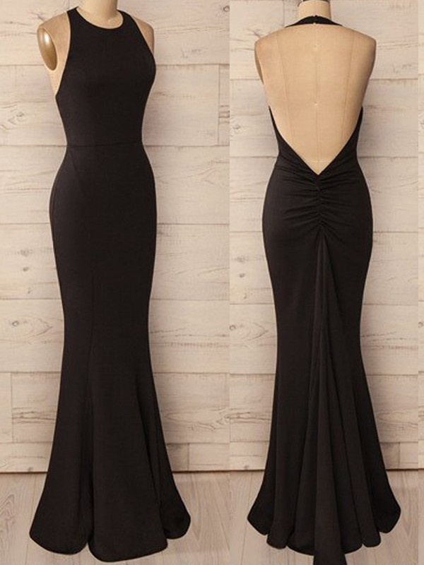 Gorgeous Floor-Length Trumpet/Mermaid Halter Sleeveless Spandex Dresses